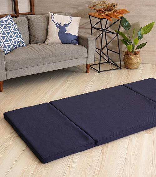 三摺式單人透氣床墊
