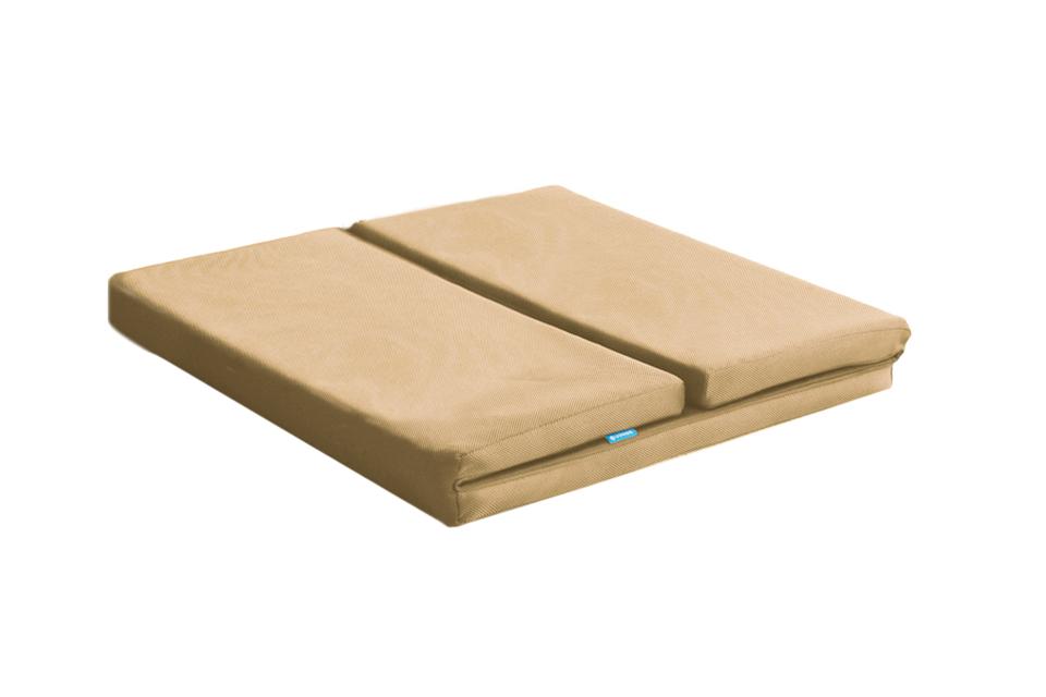 駝色三摺單人透氣床墊